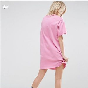 ASOS Dresses - ASOS ultimate t-shirt dress rolled sleeves pink
